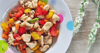 อกไก่ผัดพริกไทยดำ เมนูอาหารสุขภาพ